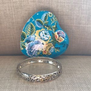 Brighton Two Tone Bangle Bracelet and Tin